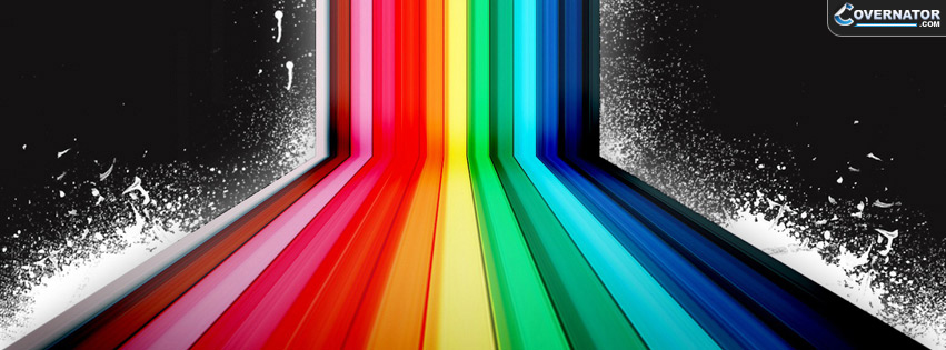nice rainbow Facebook cover