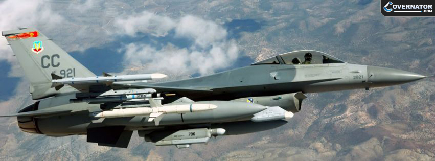 General Dynamics F 16 Fighting Falcon Facebook Cover