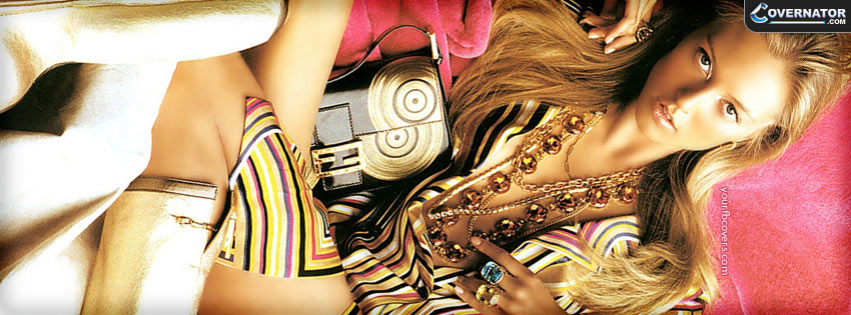 fashion pink gold Facebook cover