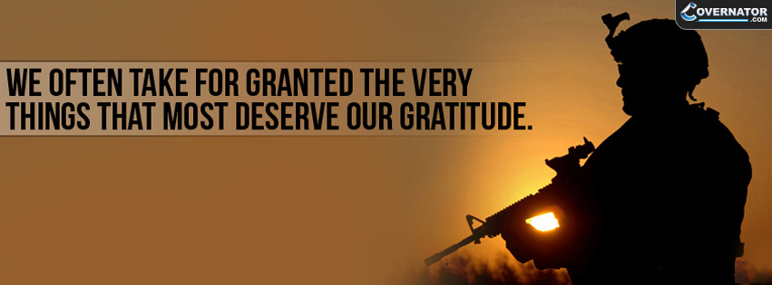 We Often Take For Granted The Very Things That Most Deserve Our Gratitude. Facebook Cover