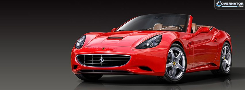 ferrari california Facebook cover