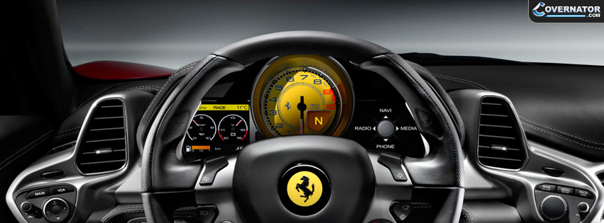 ferrari interior Facebook cover