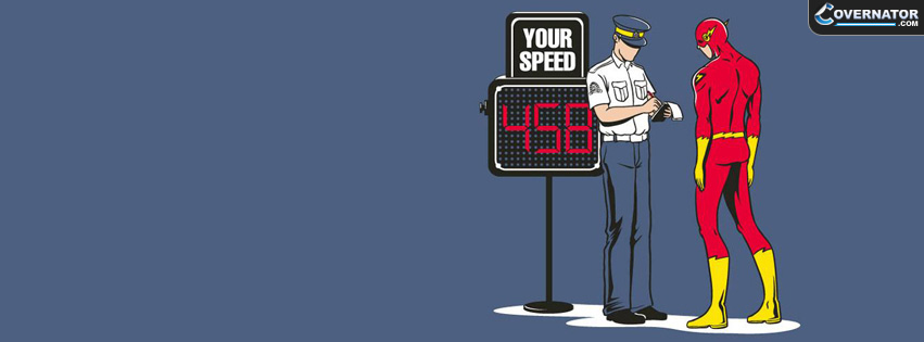 flash speed ticket Facebook cover