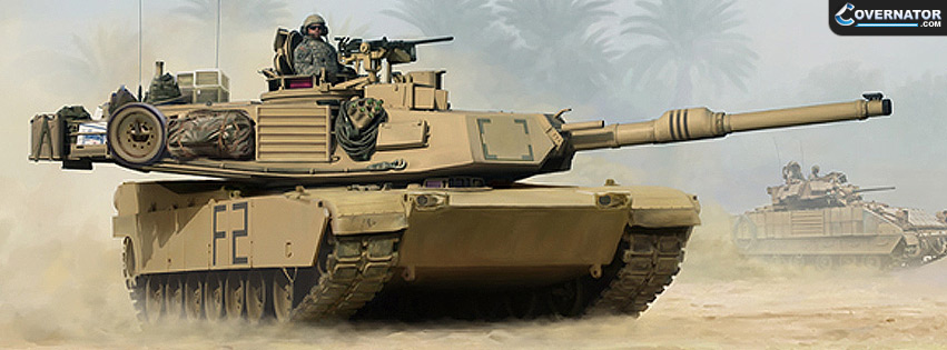 Abrams Tank (Art By Mark Karvon) Facebook Cover