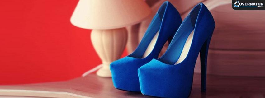 blue high heels Facebook cover