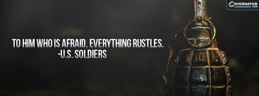 to him who is afraid, everything rustles. Facebook cover