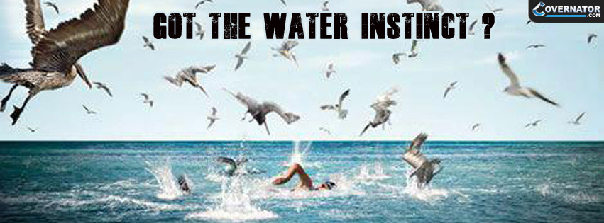 Got The Water Instinct By Arena Facebook Cover