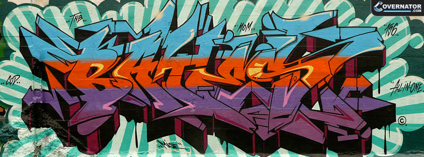 Graffiti Wall Bates Facebook cover