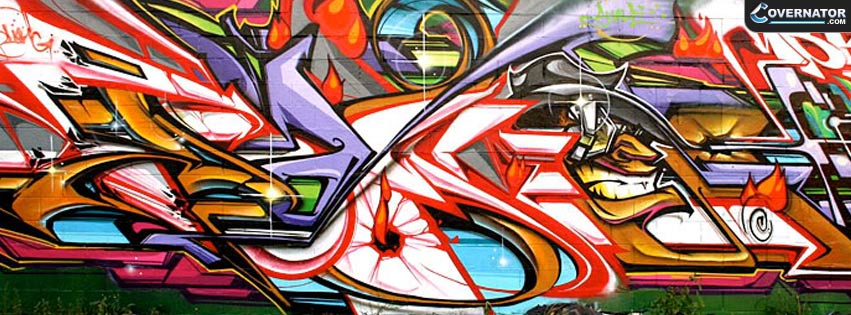 Graffiti wall Facebook cover