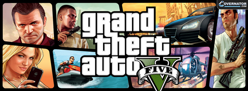 Grand Theft Auto V Facebook cover