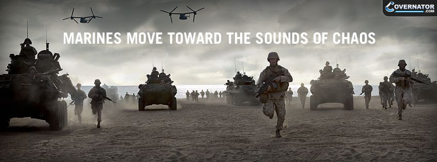 Marines Move Toward The Sounds Of Chaos Facebook Cover