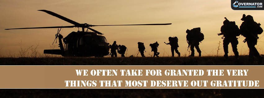 we often take for granted the very things that most deserve our gratitude Facebook cover