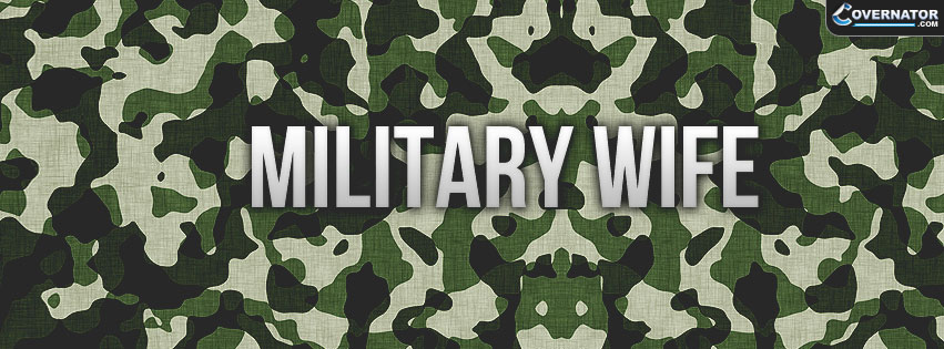 military wife Facebook cover