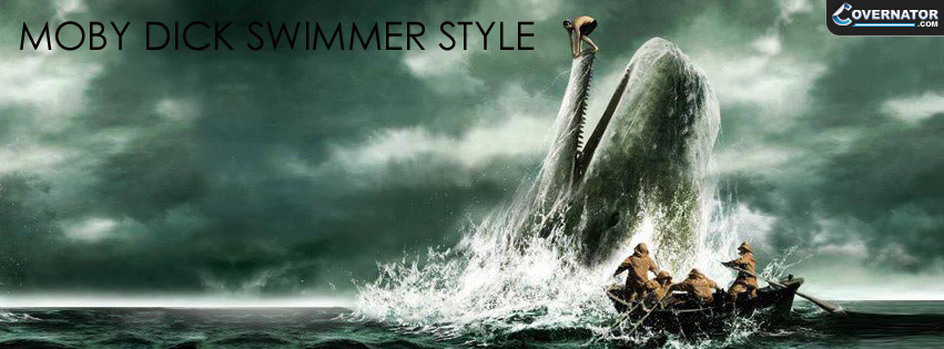 Moby Dick - Swimmer Style Facebook cover