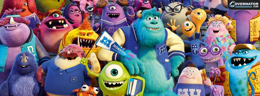 monsters university Facebook cover