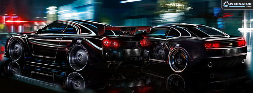 nissan GTR vs Cammaro ss Facebook cover