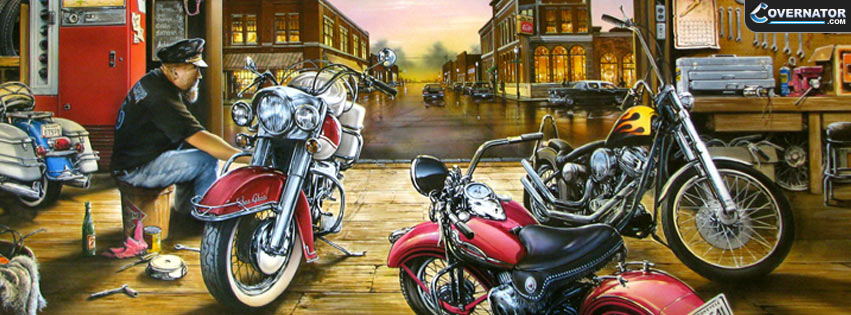bike garage Facebook cover