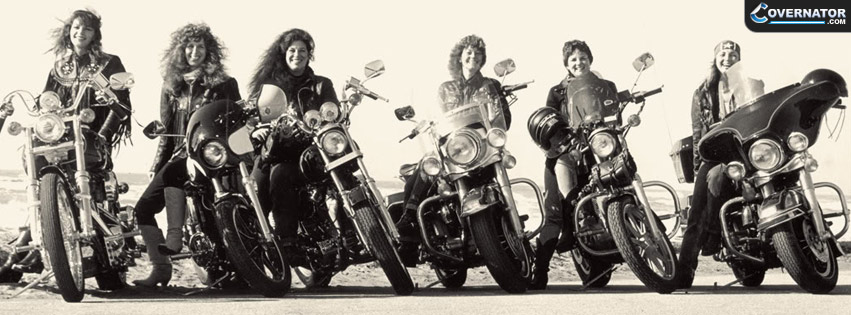 girl bikers Facebook cover