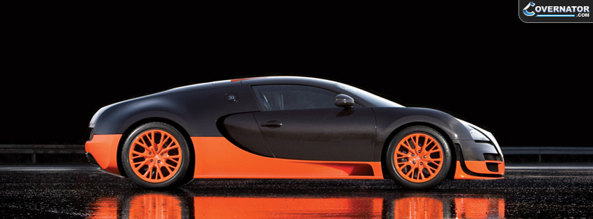 orange-black bugatti veyron Facebook cover