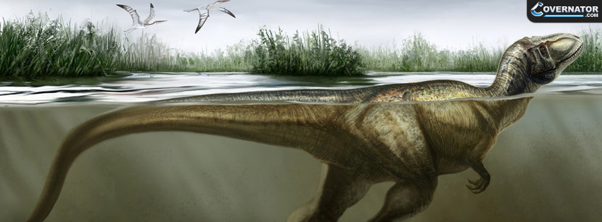 The Pre-Historic Swimmer Facebook Cover