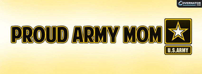 proud army mom Facebook cover