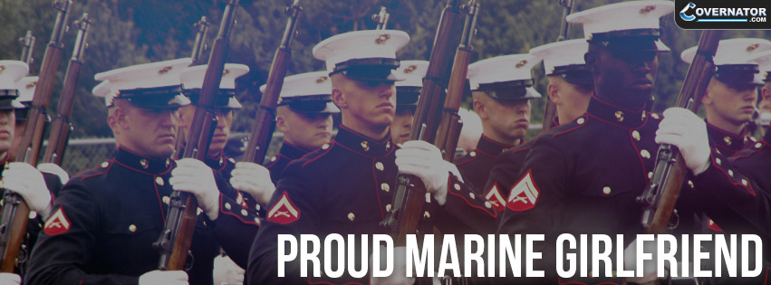 proud marine girlfriend Facebook cover