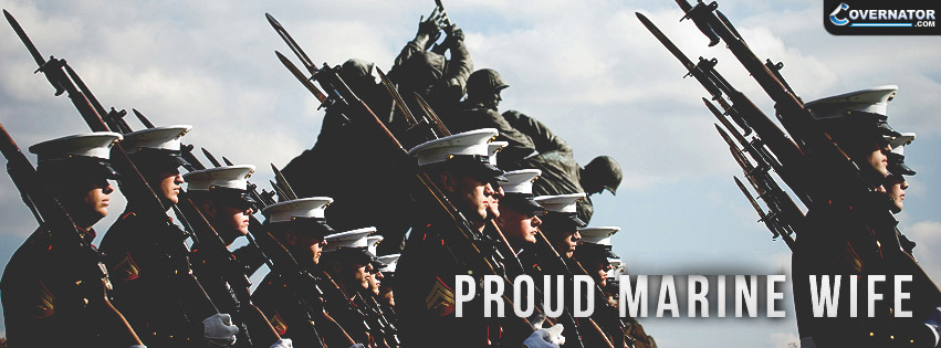 Proud Marine Wife Facebook Cover