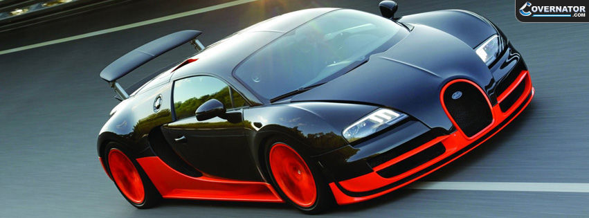 Red And Black Bugatti Facebook Cover