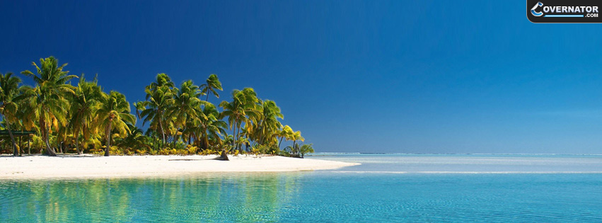 tropical beach Facebook cover