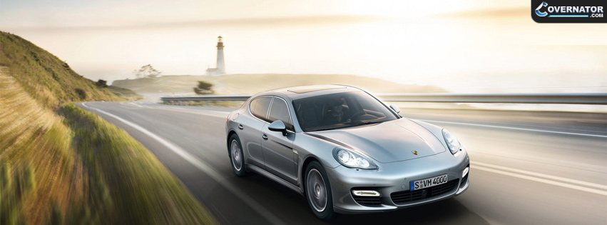 Silver Porsche Panamera Facebook Cover