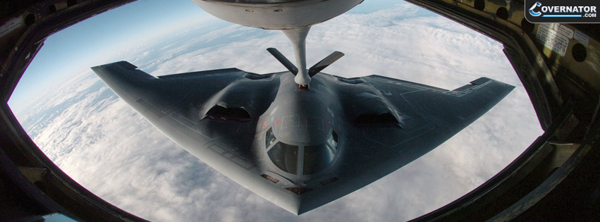 stealth bomber refueling Facebook cover