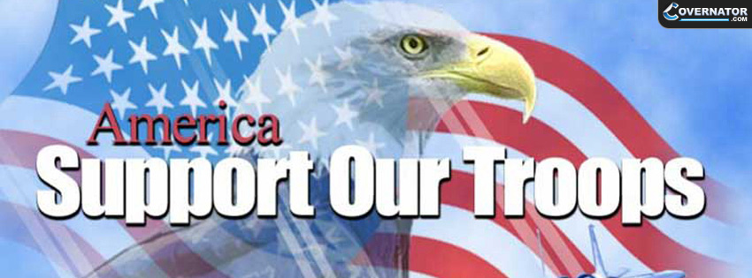 America Support Our Troops Facebook Cover