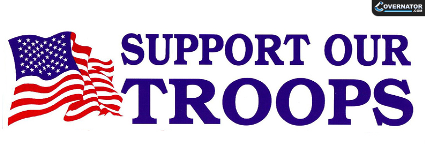 Support Our Troops Facebook Cover