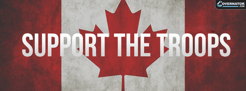 support the troops Facebook cover