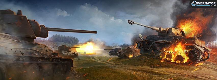 Tank Battle Facebook Cover