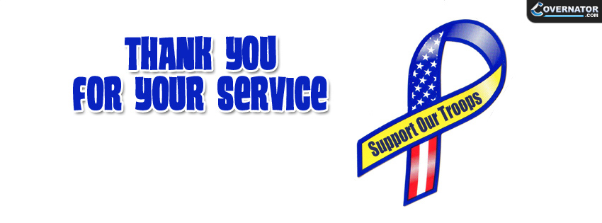 Thank You For Your Service Facebook Cover