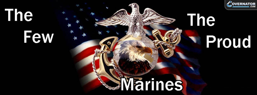 the few the proud marines Facebook cover