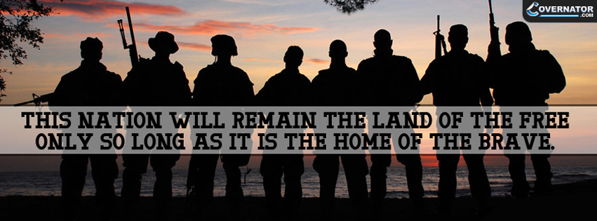 this nation will remain the land of the free... Facebook cover