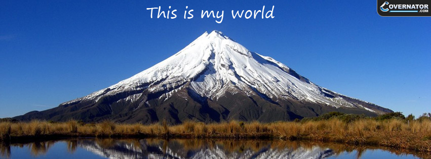 This is my world Facebook cover