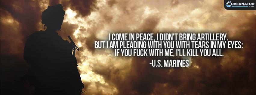 I Come In Peace, I Didn't Bring Artillery. But... Facebook Cover