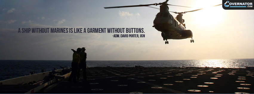 a ship without marines is like garment without buttons. Facebook cover