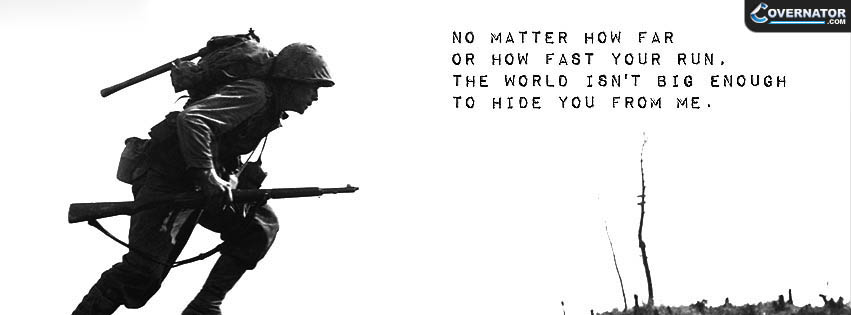 no matter how far or how fast you run... Facebook cover