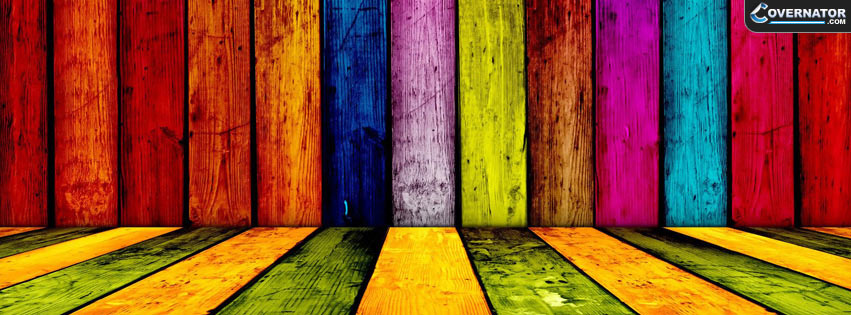colored wood Facebook cover