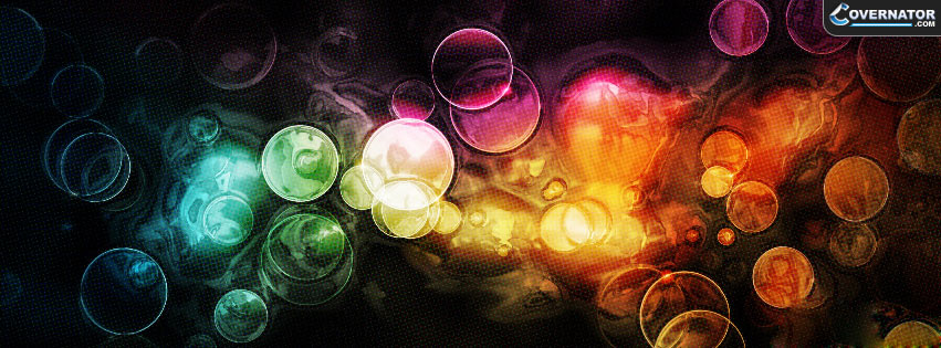 abstract lights Facebook cover