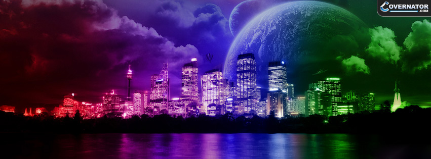 Night City Lights Facebook Cover