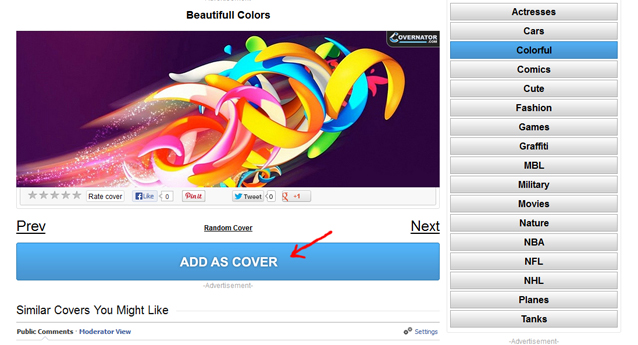 Automatically add FB cover to your timeline